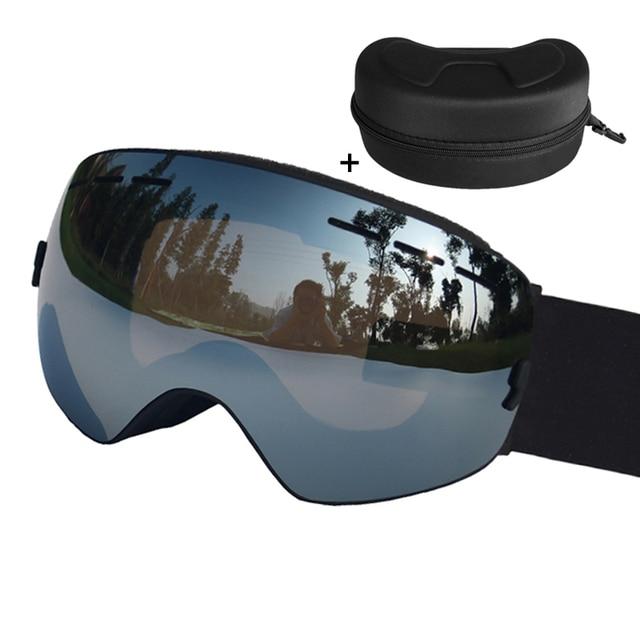 venta al por mayor grande descuento venta completamente elegante € 22.12 41% de DESCUENTO|Esférica gafas de esquí doble lente UV400 antivaho  gafas de esquí nieve Snowboard gafas o gafas máscaras de esquí en Gafas de  ...