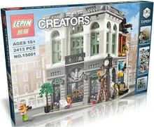 LEPIN 15001 World Bank Architecture Creators 2413PCs Block Intelligence Building Block Toys Compatible With Legoe 10251