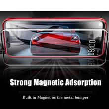 Tempered Glass Magnetic Adsorption Case for OnePlus 7 Pro 360 Full Protection Metal Frame Bumper Capa for OnePlus 7 Pro Coque