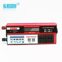 2000w Solar Inverter Multifunctional Travel Power Supply Control Dual USB Car inverter  12V 24V 110V 220V High Power Conversion