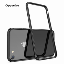 Luxury Phone Case For iPhone X 8 7 6 6s Plus Bumper Back Drop Border Aluminum Frame Case Cover For iPhonX Coque Funda Capa Black kinston protective bumper frame case for iphone 6 4 7 black