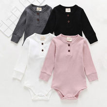 Newborn Twins Clothing Long Sleeve Onesie 100% Cotton Toddler Bodysuit Summer Clothes for Baby(China)