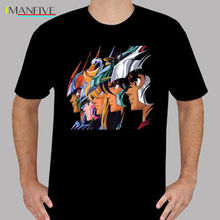 лучшая цена 2019 Summer T Shirt New Saint Seiya *Pegasus Phoenix Retro Cartoon Men's Black T-Shirt Size S to 3XL T Shirt
