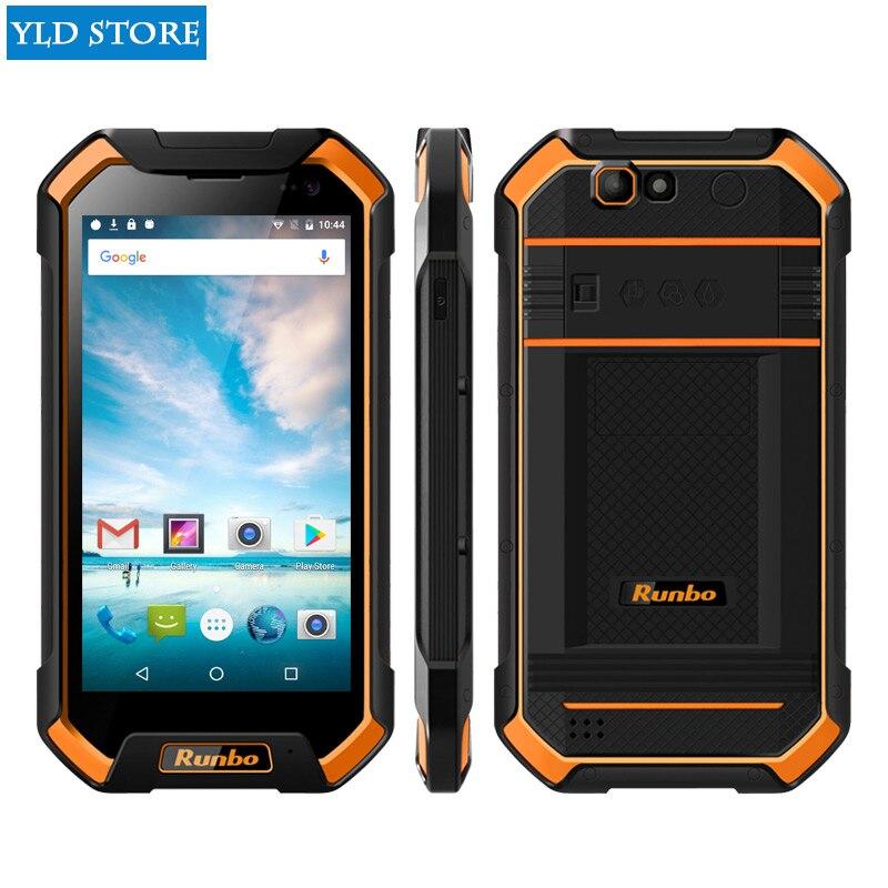 Original IP67 Runbo F1 Plus Waterproof Smartphone 6GB RAM 64GB ROM Android 7.0 16 MP 5000mAh Octa Core NFC Glonass 4G Lte Phone