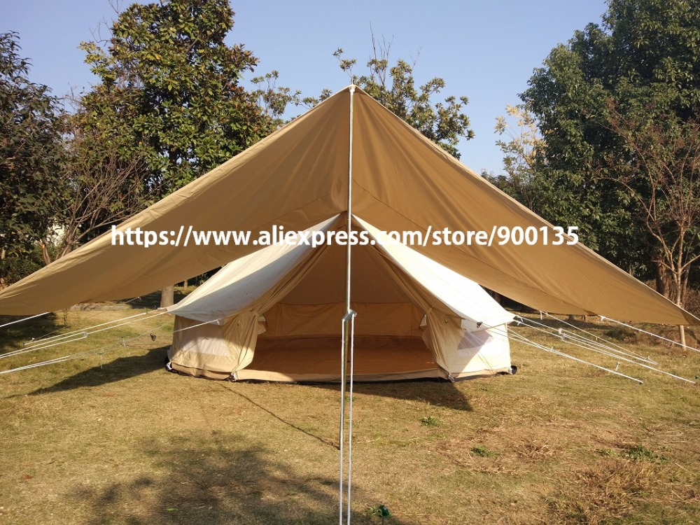 Waterproof Cotton Canvas Tent Awning The Vestibule For Camping Outdoor Shelter In Tents From Sports Entertainment On Aliexpress