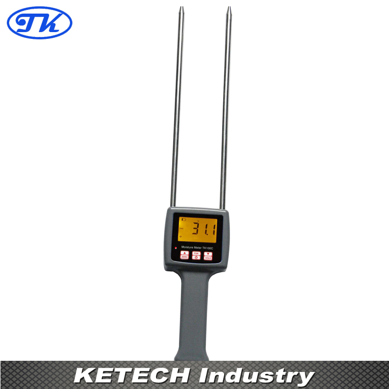 TK100C Digital Cotton Moisture Meter 7%-40% tk100c digital cotton seed cotton moisture meter digital tester 7 40%