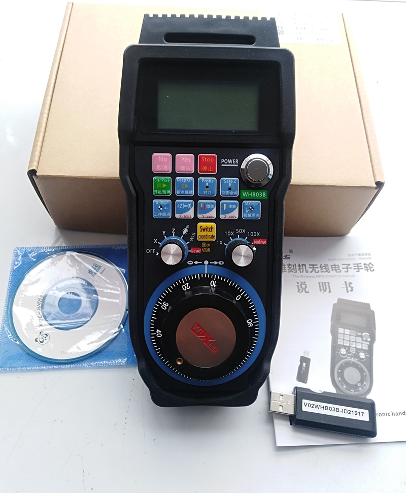 Free shipping CNC Router machine Wireless Remote handwheel MPG Remote Controller Support NCStudio CNC System free shipping by express dsp0501 control system for cnc router