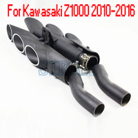 Full Exhaust System Motorcycle Muffler link Mid Connect Pipe escape For Kawasaki Z1000 2010 2011 2012 2013 2014 2015 2016 Year