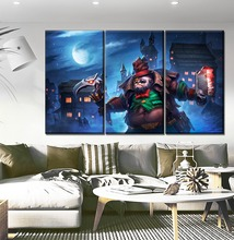 Wall Artwork 3 Panel The Night DotA 2 Pudge Hero Painting Modern Top-Rated Canvas Print Modular Picture For Living Room Decor