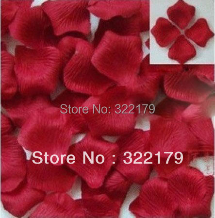Aliexpress buy 1000x dark red silk rose petals 2 artificial 1000x dark red silk rose petals 2 artificial flower rose petals wine red for wedding mightylinksfo