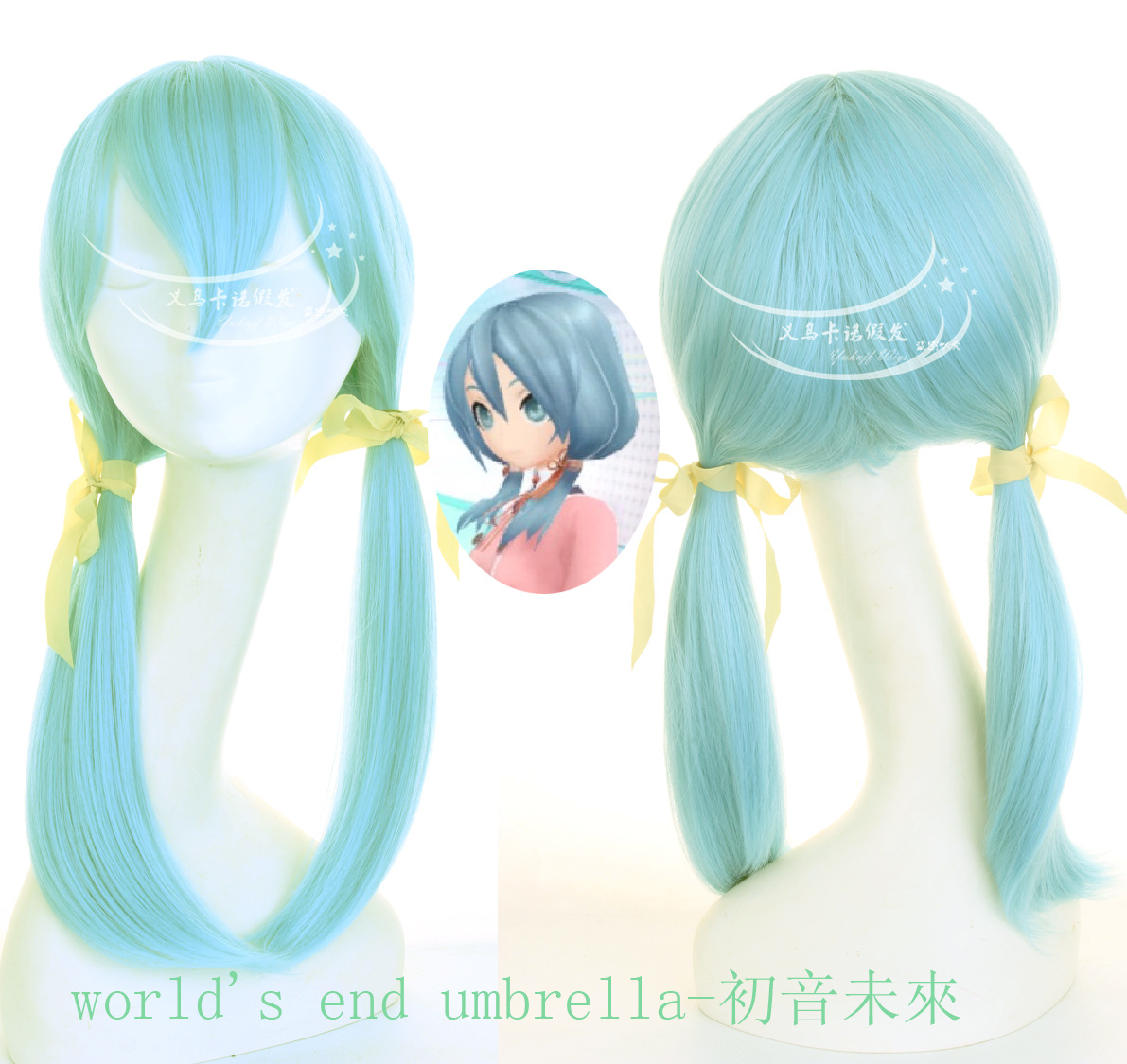цены на New arrival Hatsune Miku hair accessories light blue synthetic hair jewelry for cosplay wigs