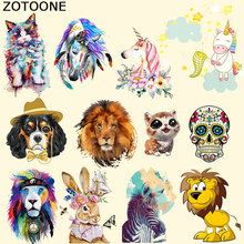 New DIY Lovely Cartoon Patches Iron on Animal for Children Kids Clothes Heat Transfer Ironing Sticker A-level Washable B
