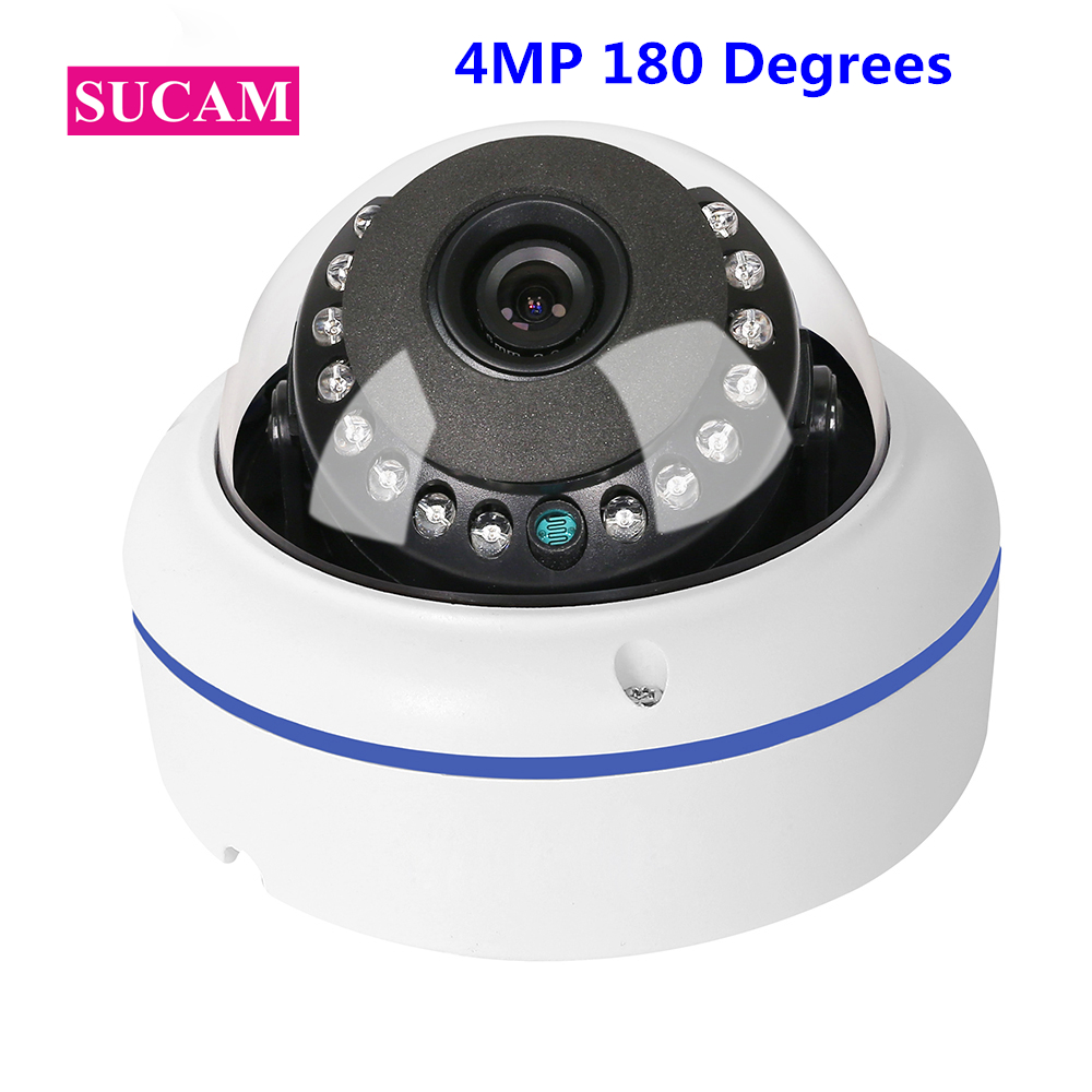 SUCAM Panaromic Fisheye 4MP Mini Security Camera AHD Dust Proof OV4689 Dome CCTV Video Surveillance Cameras 20M Night Vision sucam outdoor 180 360 degrees panaromic security ahd camera 4mp infrared night vision video surveillance cameras 20 meters ir