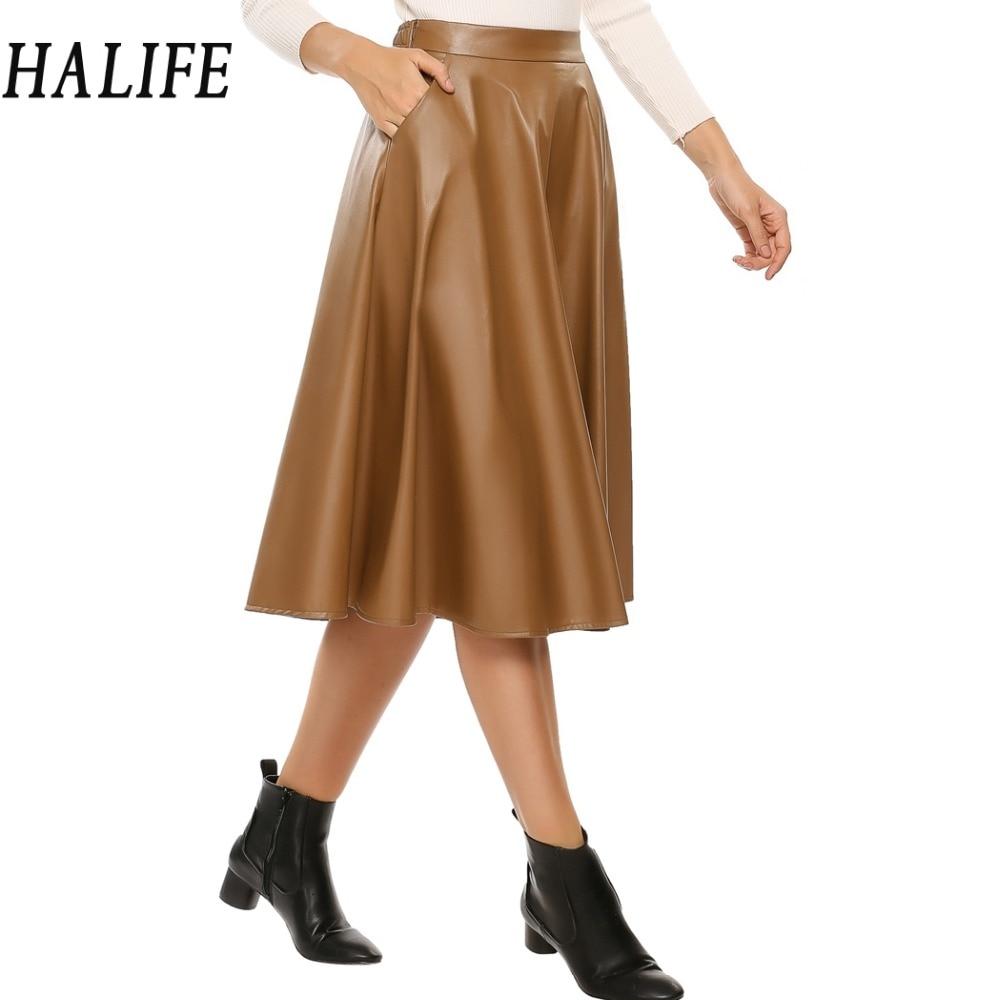 Popular Leather Swing Skirt-Buy Cheap Leather Swing Skirt lots ...