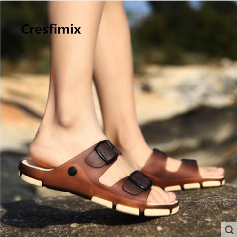 Cresfimix Sandalias Male Fashion Comfortable Slip On Beach Sandals Men Cool Spring Anti Skid Sandals Summer Sandal Shoes E3498