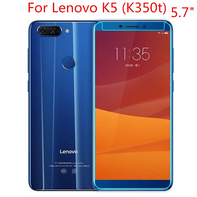 2PCS Tempered Glass For Lenovo K5 (K350t) Screen Protector 9H 2.5D Phone Protective Glass For Lenovo K5 2018 (K350t) Glass 1