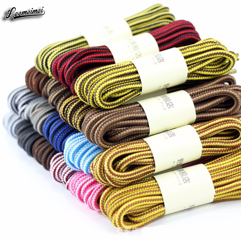 1 pair 90cm Wholesale Fashion Brand Polyester Sneaker Shoe Lace Double Striped Braid Round Shoelaces Top