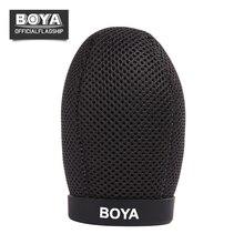 BY-T80 BOYA Microfone Espuma Dentro de Profundidade 80mm Espuma Windscreen Windshield Escudo Do Vento para Shotgun Mic Microfone Acessórios