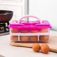 24 решетки Портативный двойной Слои яйцо ящик для хранения сохранение Еда Класс прозрачный нетоксичный Пластик Материал коробка для хранен...