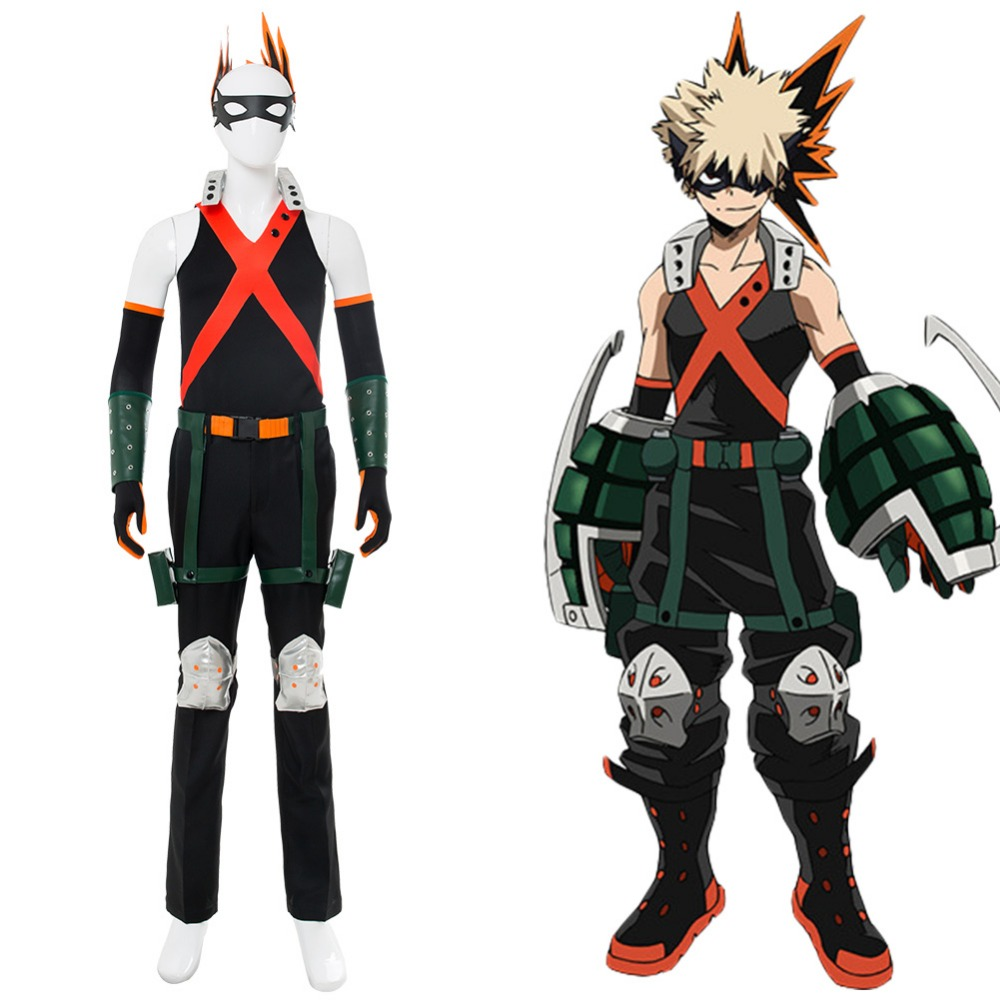 My Hero Academia Boku no Hero Academia Katsuki Bakugou Cosplay Costume Custom Made
