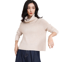 DILLY FASHION turtle neck Korean style cashmere wool sweater cropped jumper GML7252
