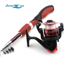 On sale Portable Telescopic Fishing Rod with Spinning Reel Ultralight Travel Sea Rock Fishing Rods Spinning Fishing Pole Lce fishing rod