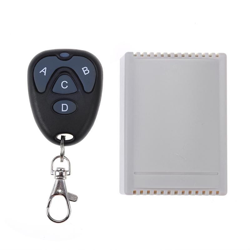 Wireless Remote Control 4CH DC12V Wireless Remote Control Relay Switch Transceiver+Receiver dc24v remote control switch system1receiver