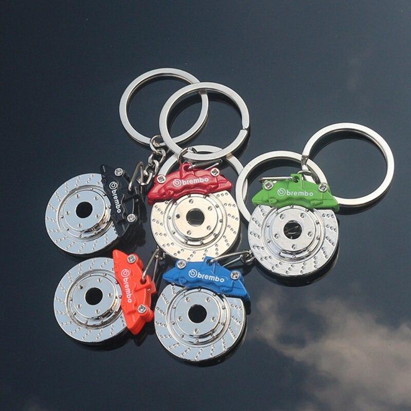 1Pc Disc Brake Keyring Metal Key Ring Car Parts Wheel Pump Car Racing