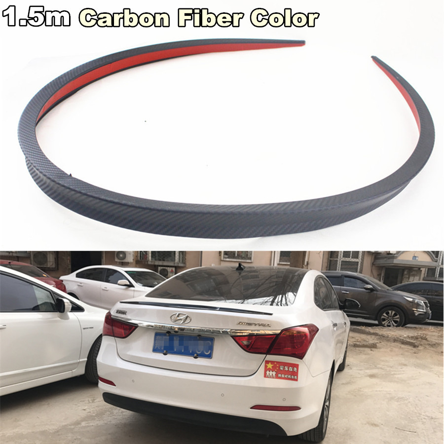 4.9ft Car SUV Trunk Tail Spoiler Rear Trunk Trim Lip Spoiler Wing Kit From USA