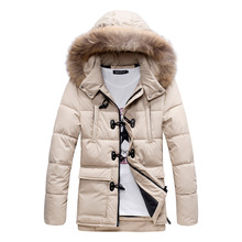 Men Winter Jackets Mens Thick Warm Parkas Fur Collar Hooded Down Coat Male Casual Jacket Men chaqueta hombre Plus size M-XXXL