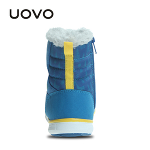 Image 5 - UOVO 2019 Snowboots Kinderen Winter Laarzen Jongens Waterdichte Schoenen Mode Warm Baby Laarzen Voor Jongens Peuter Schoenen Maat 23 # 30 #