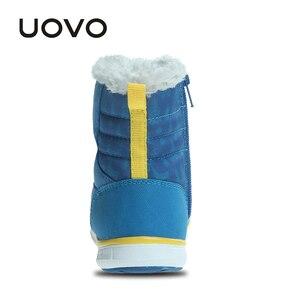 Image 5 - Зимние ботинки UOVO для мальчиков, теплые водонепроницаемые ботинки для мальчиков, Размер 23 # 30 #, 2019