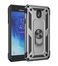 TPU+PC 360° Rotating Sergeant Shatter Resistant Bracket Armor Shock Absorption Case For Samsung galaxy J3 2018 Proof