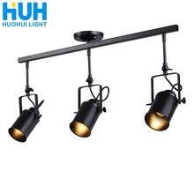 Vintage hierro Loft Industrial focos ajustable lámpara colgante ropa tienda iluminación Cafetería/Bar/Centro Comercial lámpara colgante