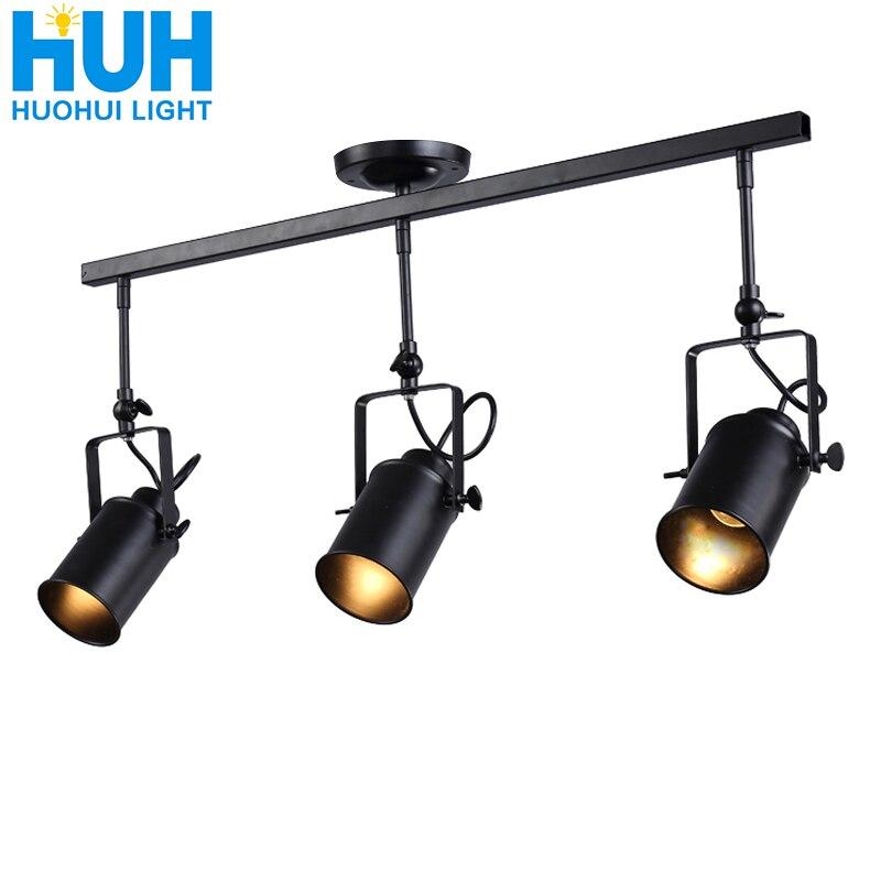 Vintage fer Loft industriel projecteurs réglable suspension lampe vêtements magasin éclairage café maison//Bar/centre commercial suspension lampe