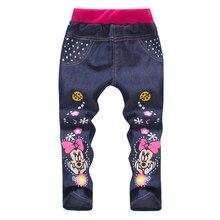 Весна/осень джинсовые малышей случайные джинсы мальчиков девочек брюки детские одежда для