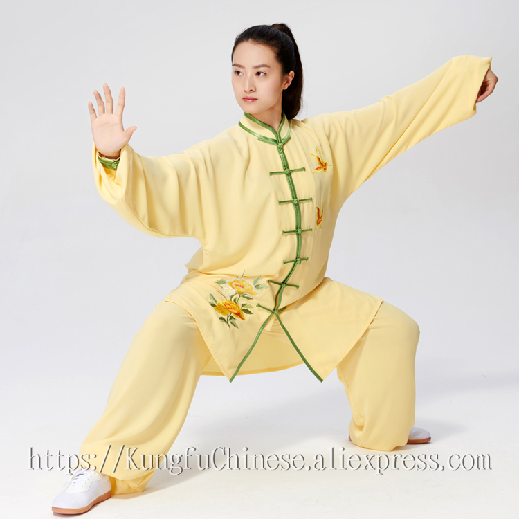Chinese Tai chi clothing Taijiquan outfit kungfu uniform exercise garment embroidery suit for women children girl kids men boy