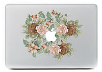 Rose Group Full Body Cover Laptop Decal Stickers Case For Apple Macbook Air Pro Retina 11