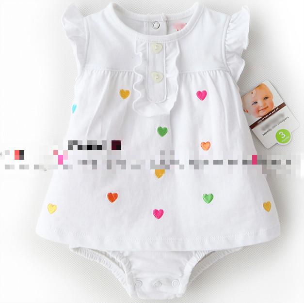 2016 novas roupas de bebê verão 100% algodão bebê menina mangas curtas bodysuit bebê menino macacão Pijamas Roupas de bebê recém-nascido por atacado