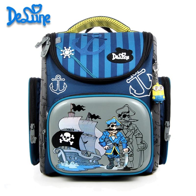 ФОТО DELUNE Russia Style Schoolbag Children Cartoon 3D Bear Flower Pattern Girls School Bags Waterproof Foldable Orthopedic Backpacks