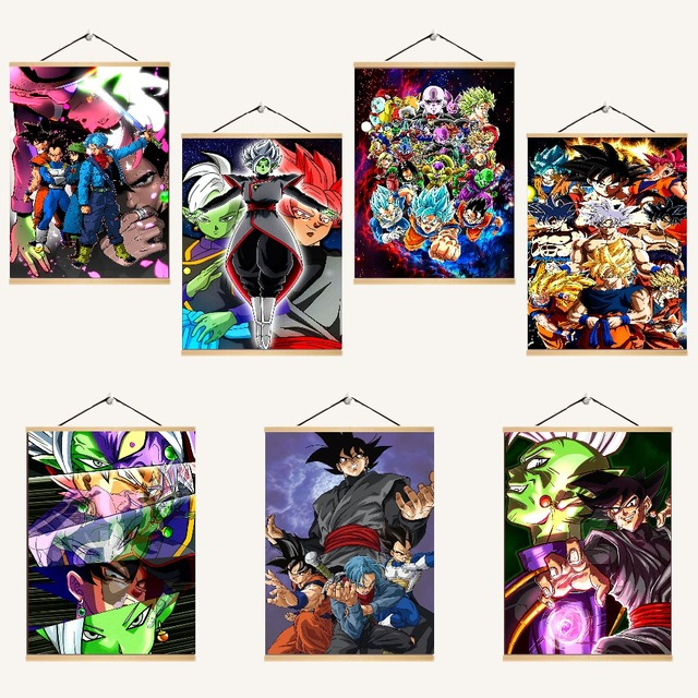 Japanese Anime Dragon Ball Super Character Poster Modern Artwork Home Wall Decorative Bedroom On Canvas Print Scroll Painting