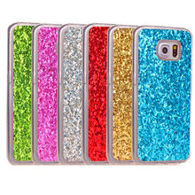 hot deal buy for samsung s6 edge s6edge case colored shiny glitter silicone tpu soft back cover phone case for samsung galaxy s6 edge g925f
