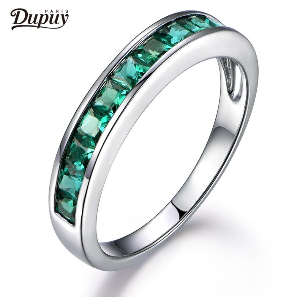 DUPUY 2018 новое горячее предложение обработанное Изумрудное кольцо принцессы с изумрудом 14 к белое золото Арт Деко свадебное кольцо классичес