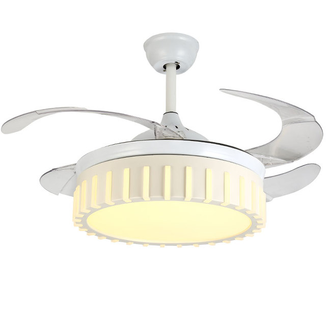 quality ceiling fans sea gull 2018 new high quality modern invisible fan lights acrylic leaf led ceiling fans 110v 220v