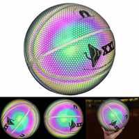 2019 New Luminous Basketball Nacht Spiel Straße PU Glowing Regenbogen Licht Kinder Ausbildung Werkzeug BB55