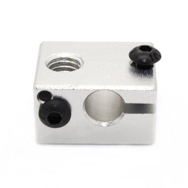 Etmakit gran oferta E3DV6 bloque calentador de aluminio todo Metal E3D V6 extrusora para HotEnd 20*16*12mm para piezas de impresora 3D