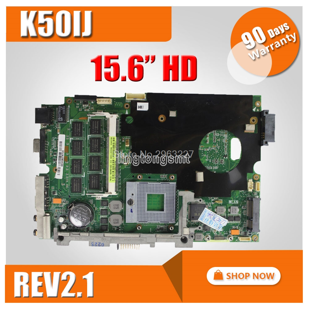 K50IJ K40IJ motherboard for ASUS laptop motherboard REV 2.1 100% Tested good 60 Warranty days for asus k52n laptop motherboard 100% tested