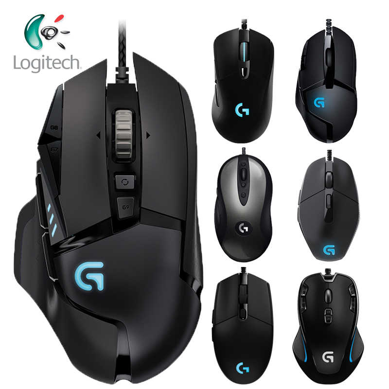 Logitech 100% Asli Mouse G403/G502/MX518/G402/G302/G102/G300s Wired Gaming Mouse dukungan Desktop/Laptop Windows 10/8/7