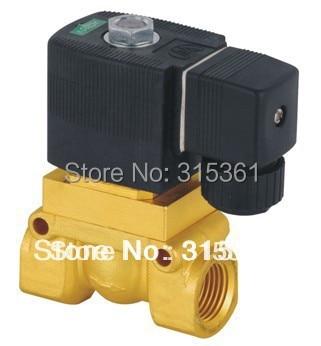 Free Shipping 1 2 High Pressure Solenoid Valve High Temperature 5404 04 PTFE DC12V D24V AC110V