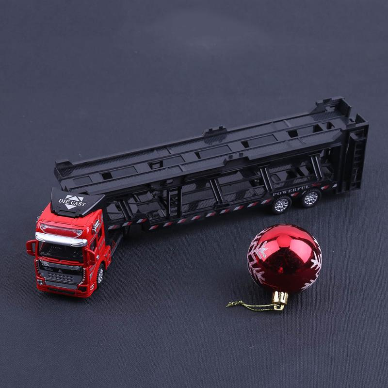 1:48 Alloy Transport Truck Alloy Vehicles Model Pull Back Simulation Toy Alloy Diecast Car Truck Educational Toy For Boys